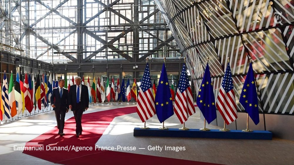 Trump is in Brussels, and NATO officials are anxious
