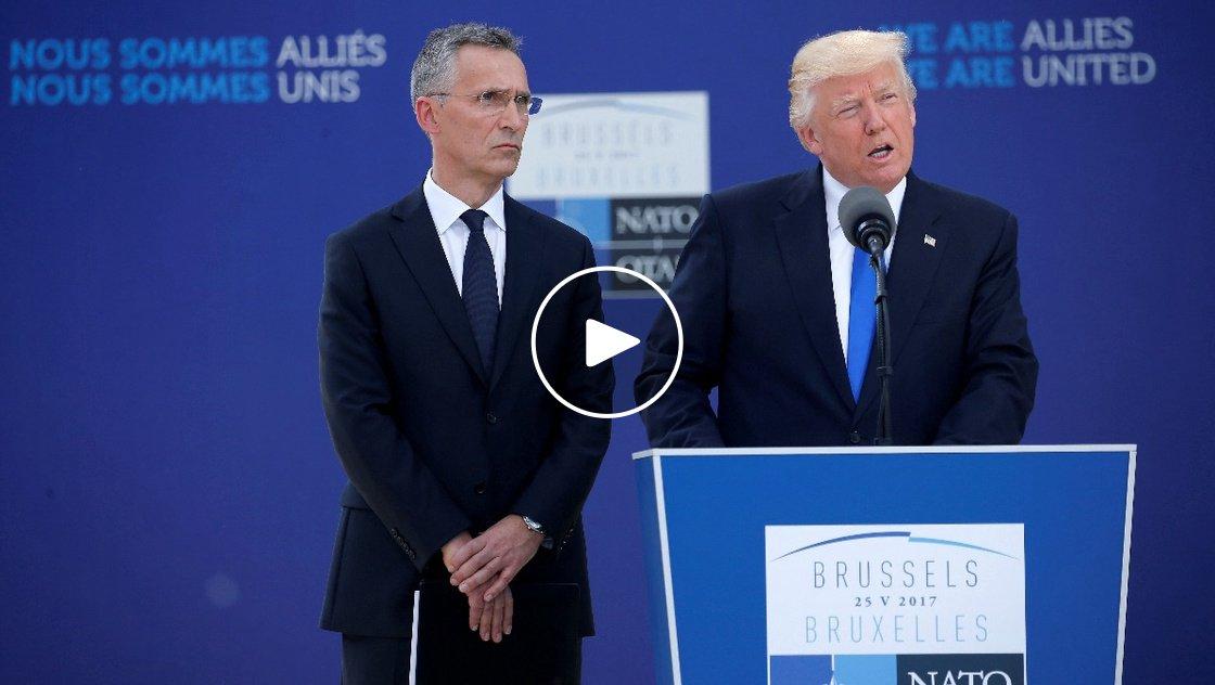 VERBATIM: Trump criticizes NATO's defense spending. Via @ReutersTV