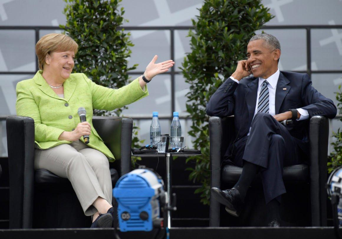 Merkel meets popular U.S. president … before seeing @realDonaldTrump via @POLITICOEurope