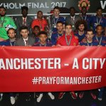 Manchester United and Man City pledge £1m to We Love Manchester Emergency Fund as Ricky Hatton and England rugby team lead tributes