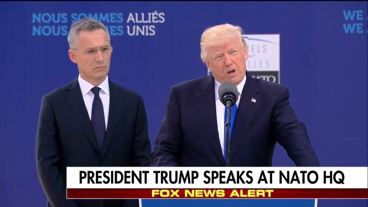 WATCH: @POTUS's full remarks at NATO HQ.