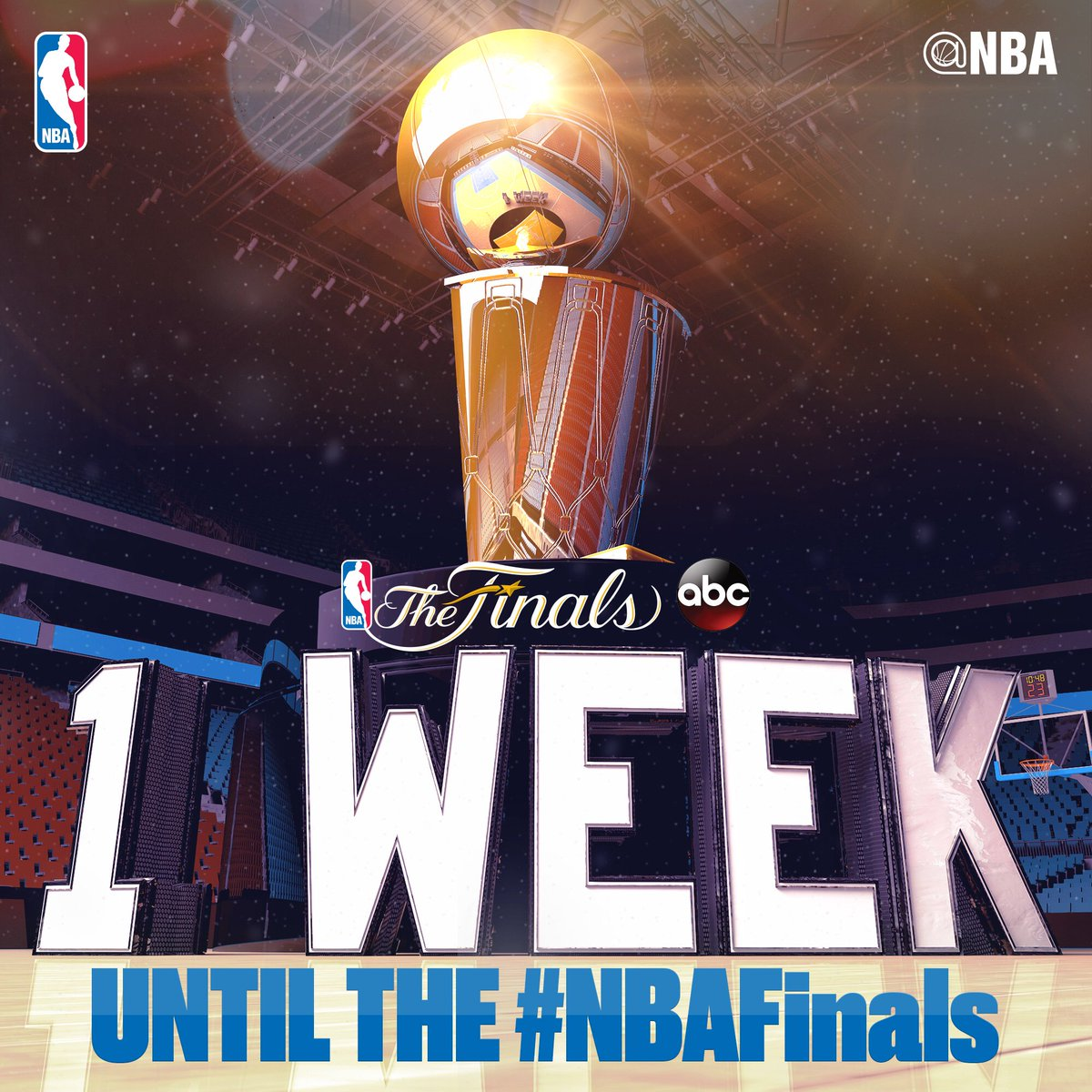 The #NBAFinals tip off in ONE WEEK.... June 1st on ABC!🏆 #ThisIsWhyWePlay