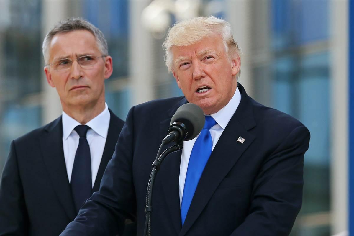 President Trump needles NATO allies on debt, raising eyebrows at ceremony