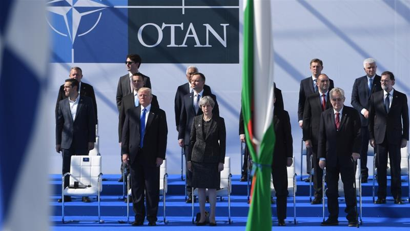 """@NATO President Trump lectures NATO allies on """"paying their fair share"""" of defence costs"""