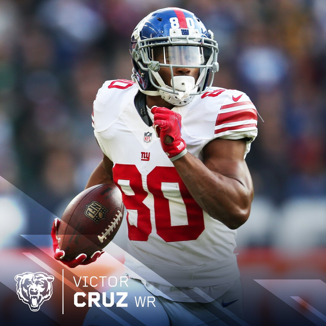 We have agreed to terms with WR Victor Cruz on a one-year contract.Welcome to Chicago, @TeamVic! 🐻⬇️
