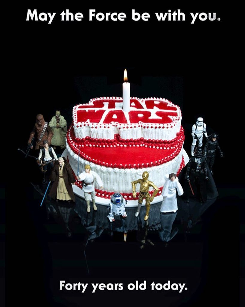 Happy Birthday Starwars Released In America 40 Years Ago Today