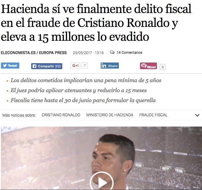 Ronaldo y Messi no son más que dos sinvergüenzas que nos han robado decenas de millones, y punto.