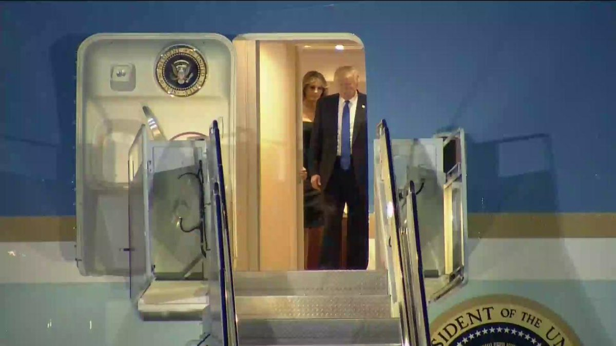 .@POTUS and First Lady Melania Trump arrive in Sicily for #G7Taormina tomorrow. #POTUSAbroad