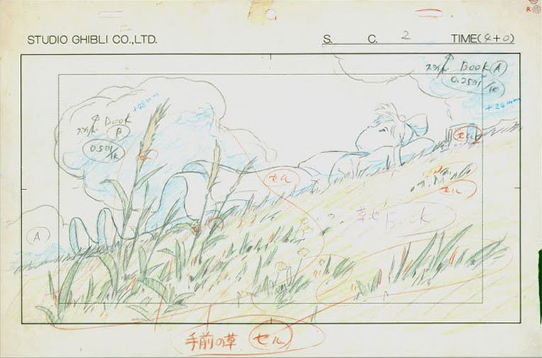 Layout for Kiki's Delivery Service 魔女の宅急便 (1989) #Animation