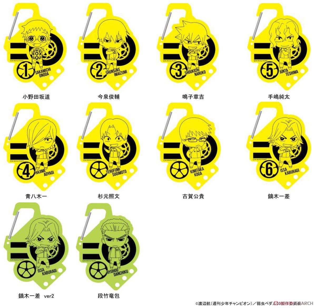 【7月上旬予約】弱虫ペダル NEW GENERATION アクリルカラビナ (コンテンツシード) 予約開始です!→弱ペダ