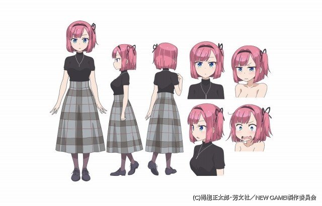 「NEW GAME!!」に名塚佳織らが演じる新キャラクター4人が登場!