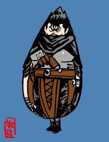 黒いしずくの剣士。 #ベルセルク #ガッツ