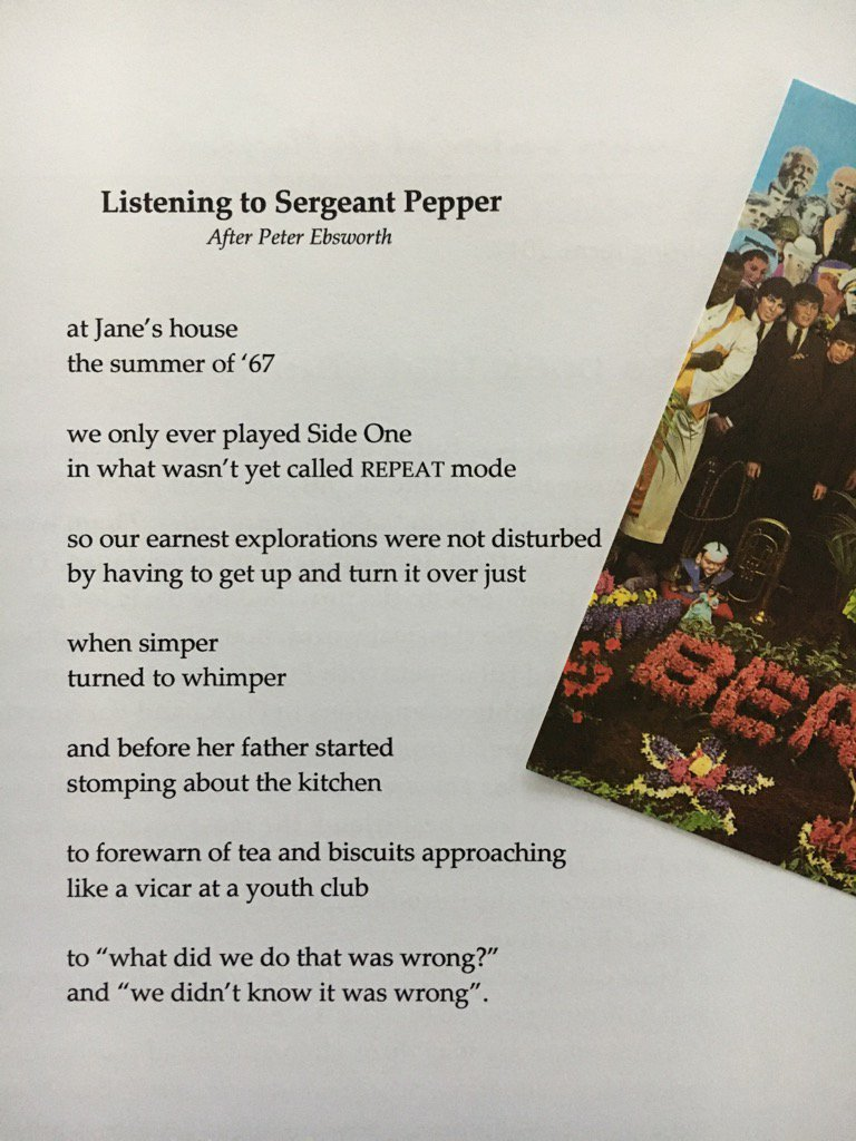 test Twitter Media - RT @stephenkeeler: Oh, all right then. Since you asked. My#SgtPepper50 poem, after Peter Ebsworth. Enjoy. https://t.co/n6Fb7VxOXa