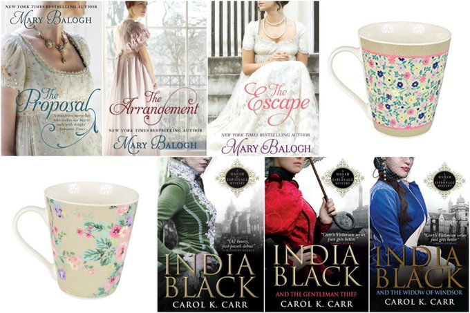 Books by Mary Balogh and Carol K. Carr & Mugs Giveaway