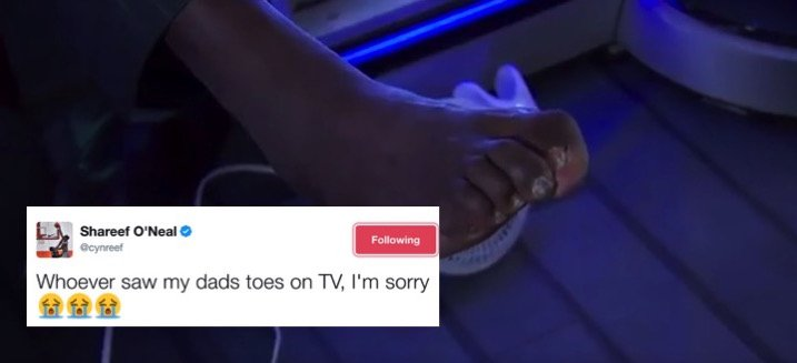 The world saw Shaq's foot last night…and the internet couldn't handle it
