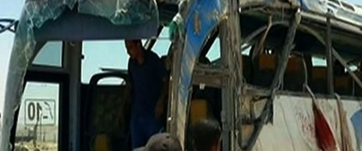 Bus carrying Coptic Christians attacked by gunmen in Egypt, leaving at least 24 people dead.