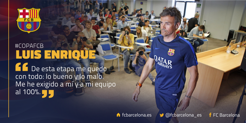 🔊 Luis Enrique, en la rueda de prensa previa a la #CopaFCB