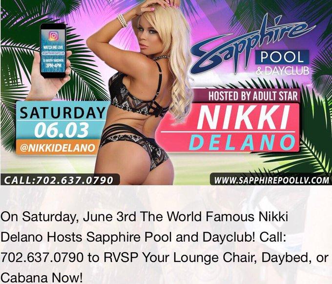 1 pic. Meet me live next weekend in Las Vegas at @TheSapphireLV June 2 @SapphireDayClub June 3rd 💃💃 https://t