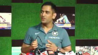 """""""It is VERY INSPIRING"""" says @msdhoni on @sachin_rt's Biopic"""