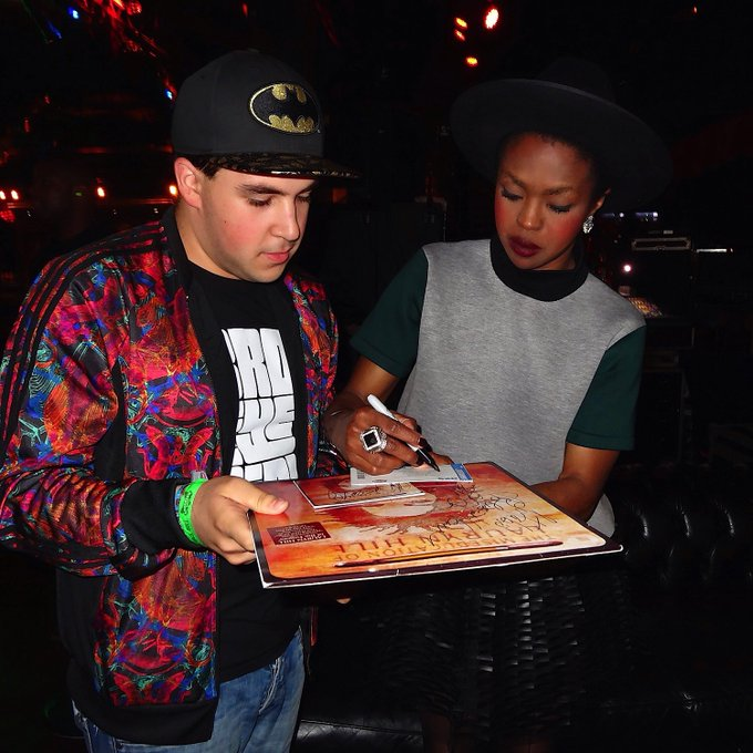 I look so baby faced in this photo with Lauryn Hill  !! Happy Birthday to the one and only L Boogie!!