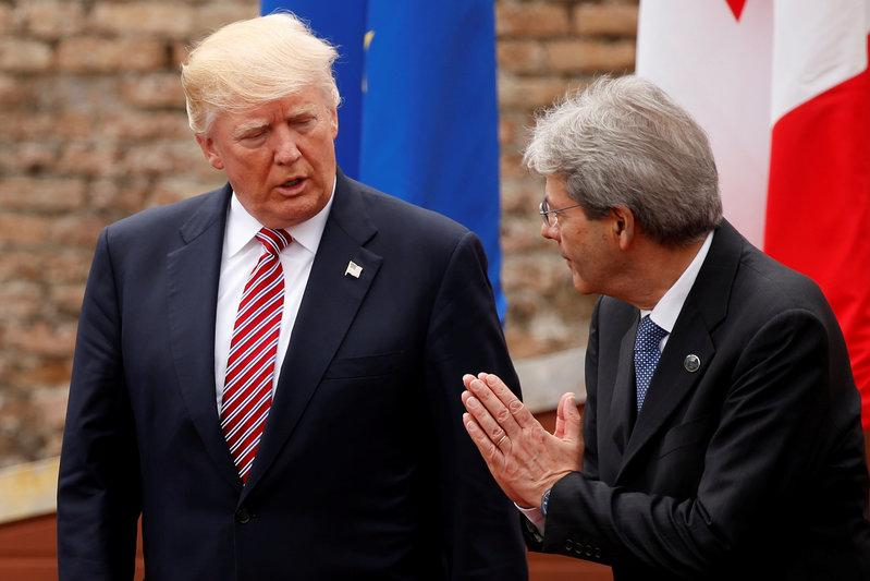 Trump still not backing Paris climate agreement: Italy's PM
