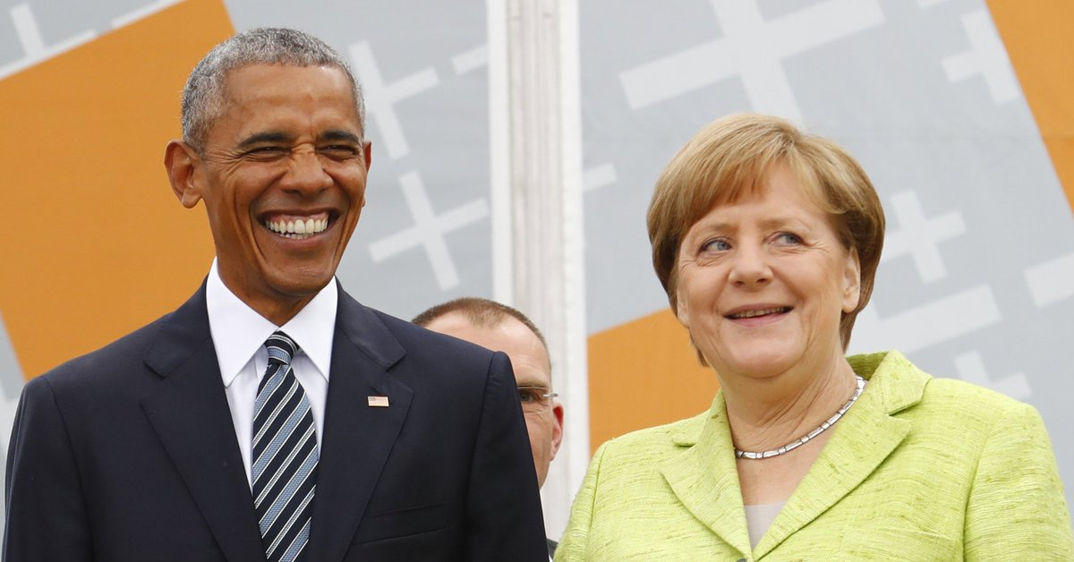We just can't stop looking at these photos of Obama and Merkel together again