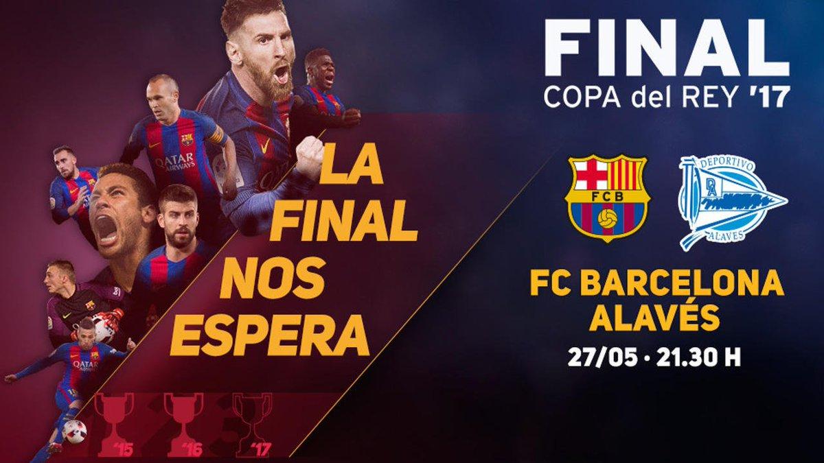 #CopaFCB ⏳ 24 horas para una nueva final de Copa. ¿Estás listo? 🔵🔴 #ForçaBarça
