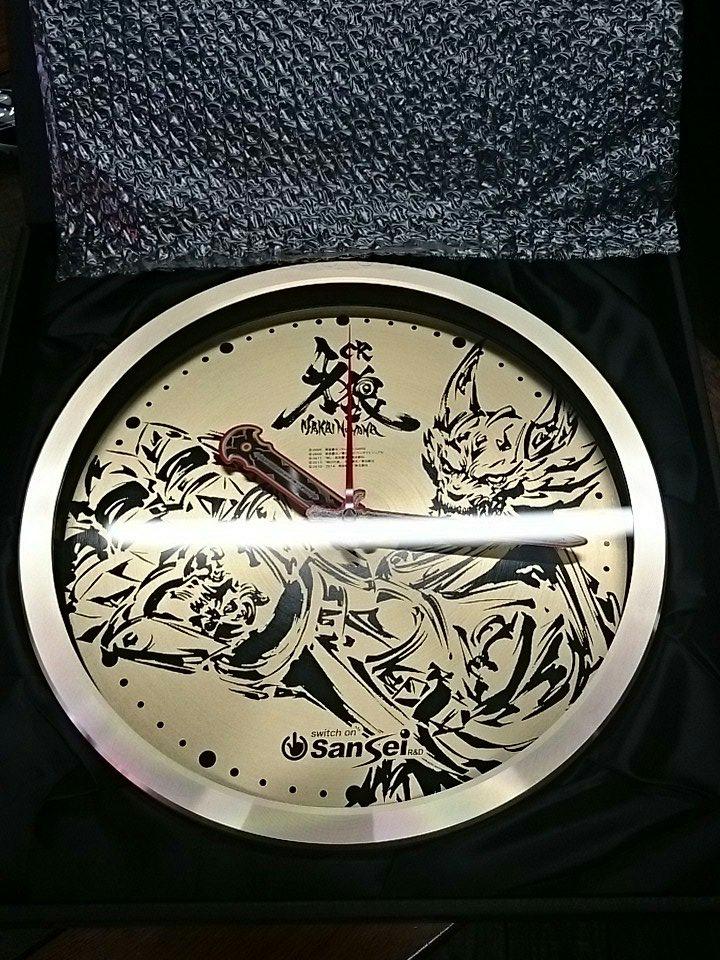 そして1等は!「牙狼 MAKAI NO HANA オリジナル壁かけ時計」1名♪