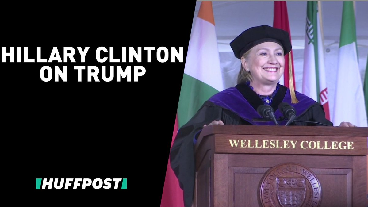 Hillary Clinton didn't hold back during a fiery commencement speech at Wellesley College.