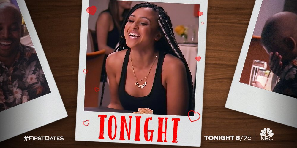 #FirstDates is on tonight! It's like going on a real first date without having to worry about spinach in your teeth.