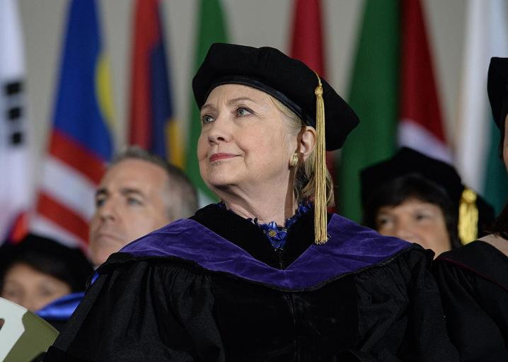 Hillary Clinton's commencement speech made it sound like all of America was graduating