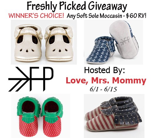 Winner's Choice of Freshly Picked Moccasins Giveaway! $60 RV