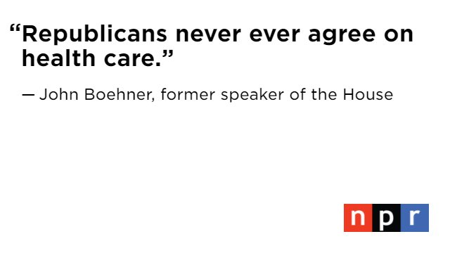 Boehner is dismissive of Trump being able to overhaul the Affordable Care Act