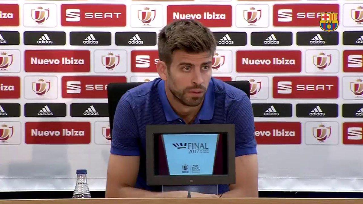 """🔊 Gerard Piqué """"Quiero que Luis Enrique se vaya con otro título"""" #CopaFCB"""