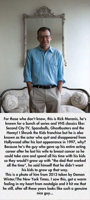 Rick Moranis is one hell of an actor as well as Dad! (X-Post /r/wholesomememes) https://t.co/oJ4zGBVezC