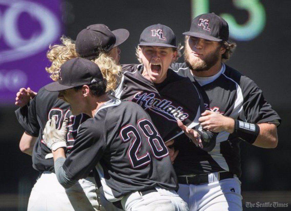 test Twitter Media - Kentlake continues 'unlikely' run, beating Kentwood 5-4 in 4A state baseball semi. Falcons play Puyallup for title.  https://t.co/hbLmhViRpe https://t.co/jmvBoqrBTg