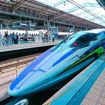 いまから博多旅行♩なんとエヴァ新幹線でした( ˙꒳˙ )!