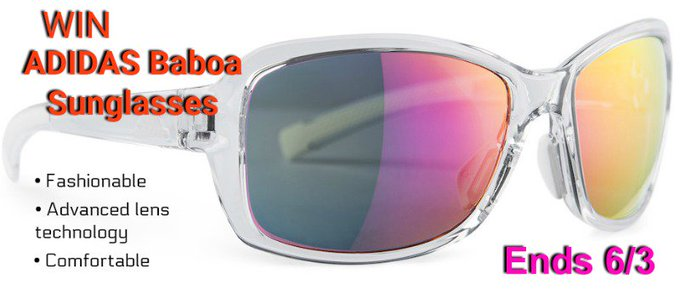 ADIDAS Baboa Sunglasses, $99 Value-1-US-Ends 6/3