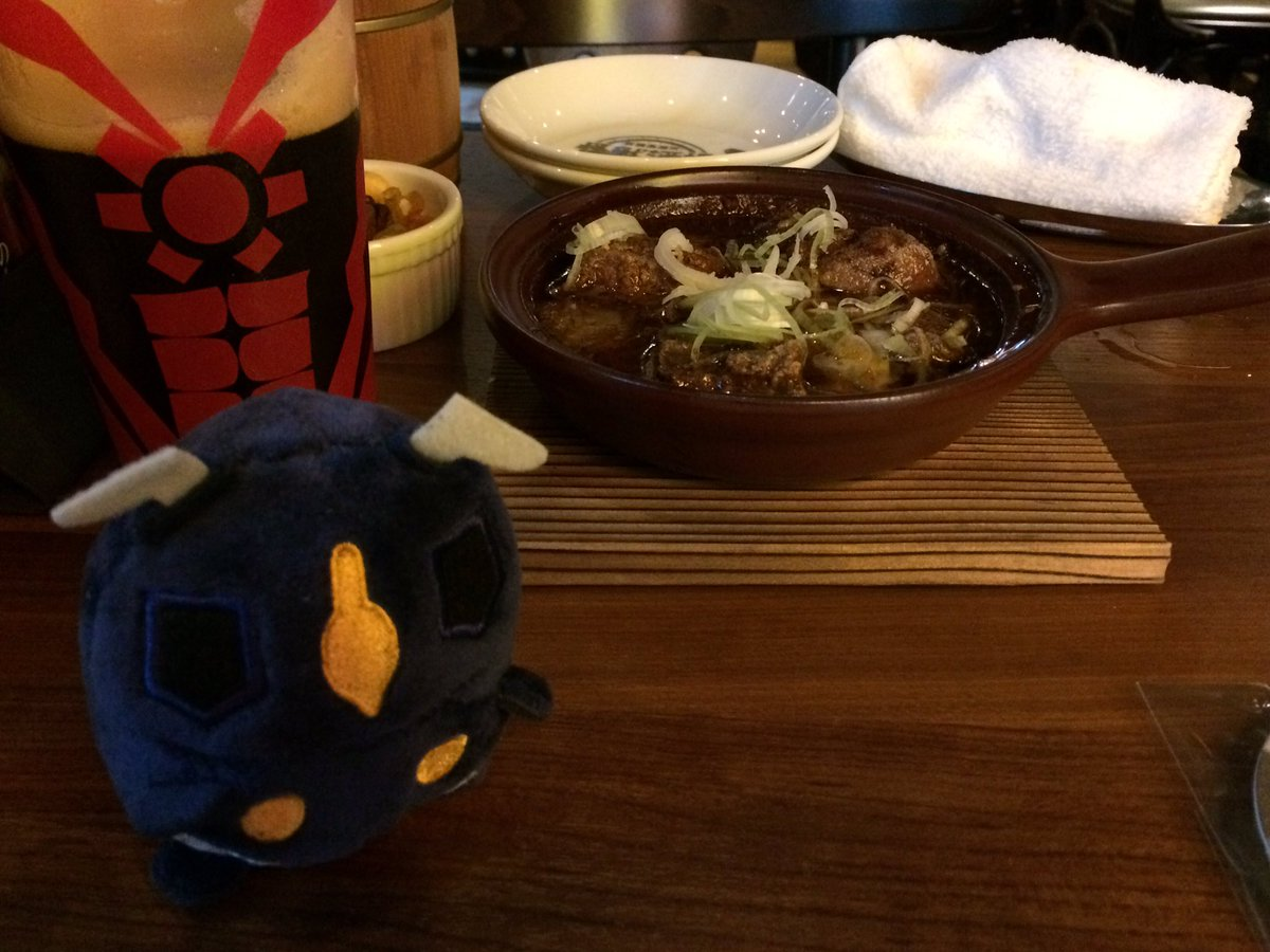 2品目キタヨ〜。クレージーゴンの「鉄分をくれ!」だとw。(^^)#怪獣酒場#新橋蒸溜所