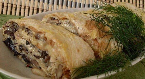 Рулет из лаваша и курицы рецепт с пошагово