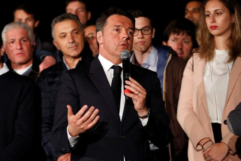 Italy's Renzi sees elections at natural end of legislature in 2018
