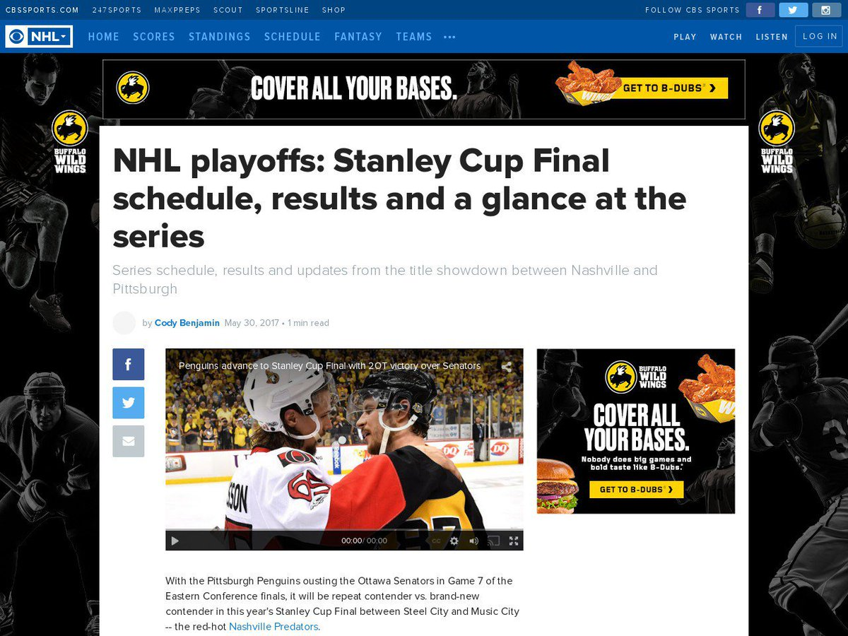 NHL playoffs: Stanley Cup Final schedule, results and a #NHLplayoffs, #nhlnews, #Stanley cup https://t.co/s4FOmU5hdR https://t.co/2vcyqlBiwX