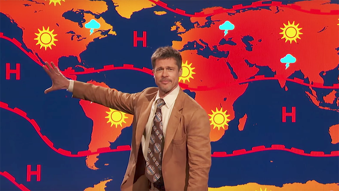Brad Pitt delivers a grim weather forecast: 'There is no future'