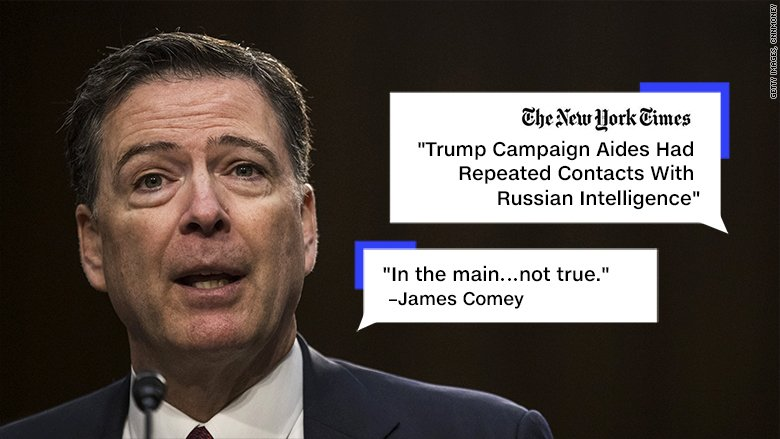 New York Times stands by story James Comey called into question