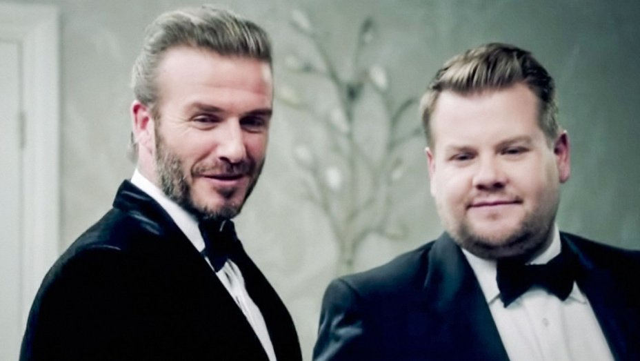 Watch: @JKCorden and David Beckham face off as James Bond
