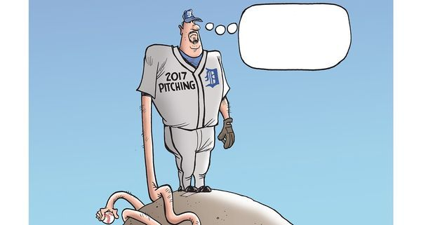 Submit your entry for latest Mike Thompson cartoon caption contest: Tigers pitching