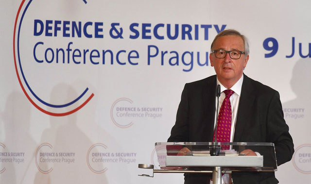 Juncker says Europe can no longer 'outsource' protection