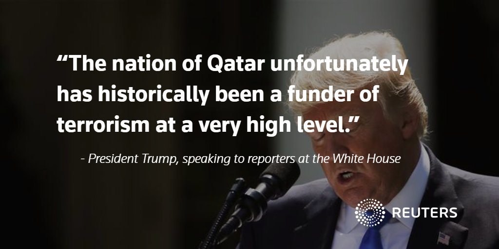 Trump calls on Qatar to stop 'funding terrorism.' More here: