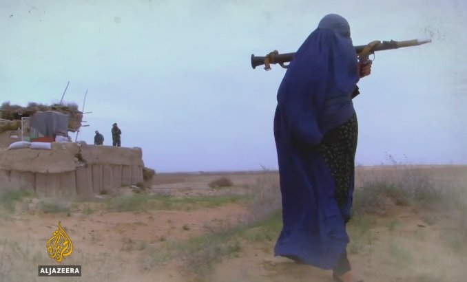 Local women in Afghanistan have taken up arms against the Taliban and ISIL
