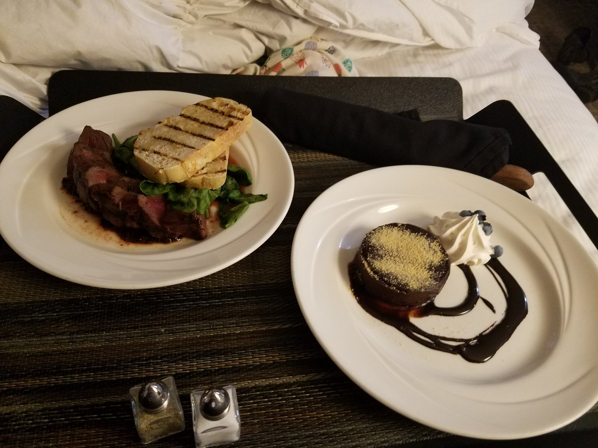 Bc when I'm in #Colorado and don't feel like leaving my room I order room service....and eat elk. Mmmmmm.